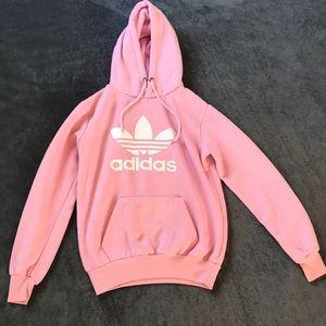 Pink adidas sweatshirt